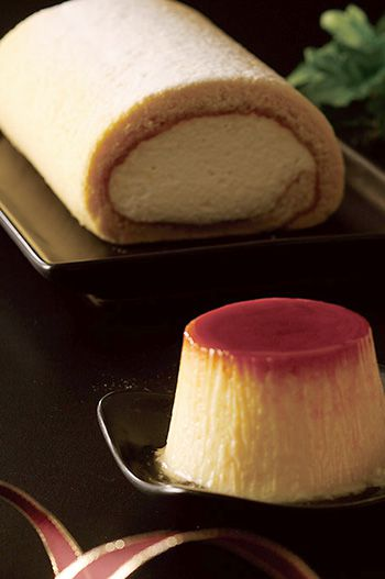 マスカルポーネのロールケーキとレトロぷりんセット